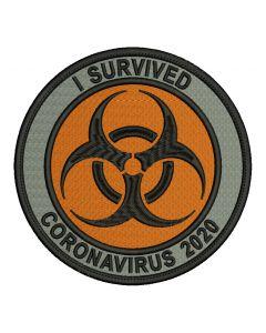 naszywka koronawirus CORONA VIRUS SURVIVOR COVID 19