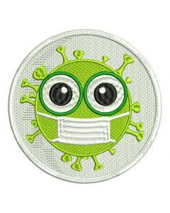 Naszywka CORONA VIRUS i survived coronavirus 2020