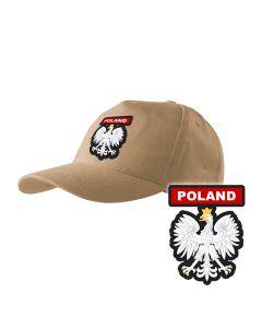 Piaskowa czapka strażacka z daszkiem WZÓR 05 Państwowa Straż Pożarna OSP PLT