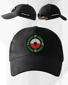 Czarna czapka z daszkiem SĘDZIA Polski Związek Strzelectwa Sportowego PZSS