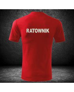 Czerwona koszulka t-shirt ratownik medyczny