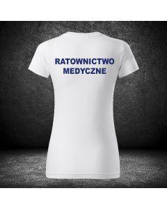 Damska biała koszulka t-shirt RATOWNIK druk