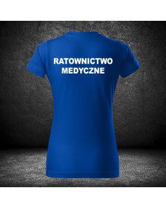 Damska biała koszulka t-shirt RATOWNICTWO MEDYCZNE druk