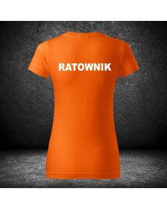 Damska chabrowa koszulka t-shirt RATOWNIK druk