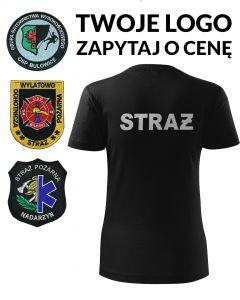 indywidualny damski t-shirt, haft komputerowy, straż osp