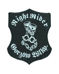 Nightrider - duża naszywka motocyklowa na plecy na kurtkę mot0002