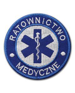 Naszywka haftowana emblemat ratownik medyczny KPP