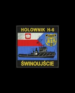 emblemat flaga Polski, naszywka wosjkowa haftowana, emb, naszywka