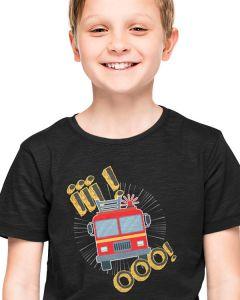 Z drogi śledzie Strażak jedzie, dziecięca koszulka  STRAŻACKA z nadrukiem DTG0009