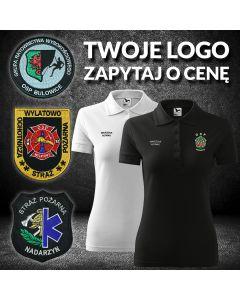 Indywidualna koszulka POLO strażacka, haftowane logo