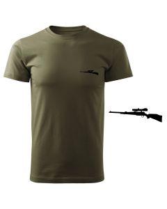 Koszulka t-shirt Zając myśliwska myśliwy z nadrukiem DTG077