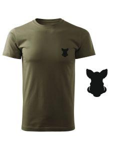 Koszulka t-shirt myśliwska poroże byk myśliwy z nadrukiem DTG080