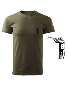 Koszulka t-shirt myśliwska jeleń byk myśliwy z nadrukiem DTG082