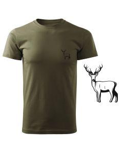 Koszulka t-shirt myśliwska myśliwy z nadrukiem DTG083