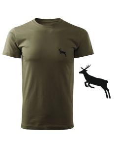 Koszulka t-shirt strzelba myśliwska myśliwy z nadrukiem DTG088