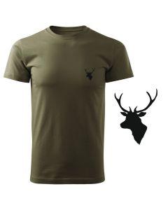 Koszulka t-shirt jelonek myśliwska myśliwy z nadrukiem DTG090