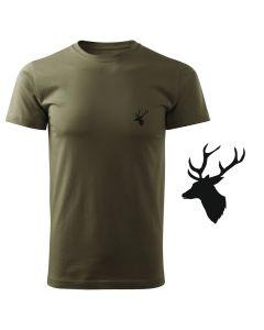Koszulka t-shirt poroże myśliwska myśliwy z nadrukiem DTG091