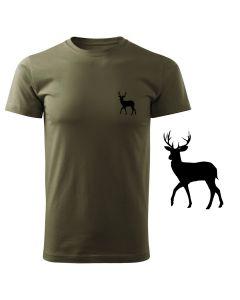 Koszulka t-shirt myśliwska myśliwy z nadrukiem DTG068