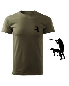Koszulka t-shirt myśliwska kaczka myśliwy z nadrukiem DTG071