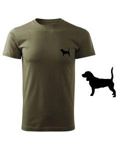 Koszulka t-shirt róg myśliwski myśliwy z nadrukiem DTG094