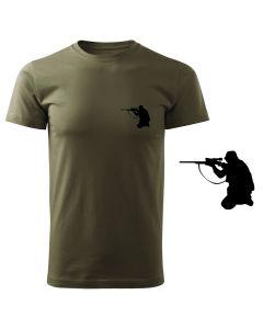 Koszulka t-shirt myśliwska myśliwy pies z nadrukiem DTG072