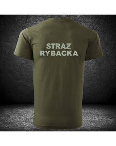 T-SHIRT koszulka STRAŻ RYBACKA haft koszulka t-shirt dla straży rybackiej