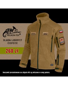 Helikon Liberty czarny polar strażacki ŻÓŁTY NAPIS haft