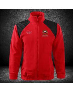 Czerwony HAFTOWANY polar SĘDZIA Polski Związek Strzelectwa Sportowego PZSS. Polar z haftowanym logo na piersi związku PZSS i napisem sędzia na plecach.