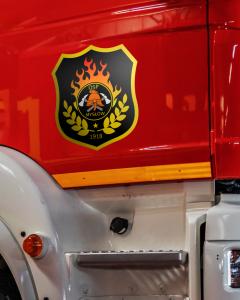 Naklejki na wóz strażacki, bojowy na drzwi komplet 2szt. 30cm DTG