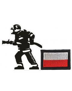 haft komputerowy straż, strażak naklejka na samochód, auto