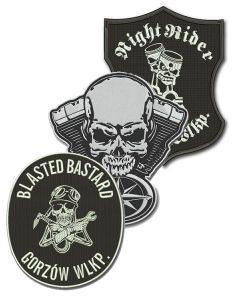 haft komputerowy naszywka motocyklowa emblemat logo naszywki