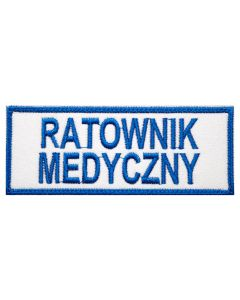 Naszywka haftowana medyczna pielęgniarz 130x50mm MED1006
