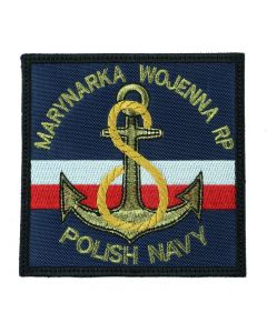 Marynarka Wojenna RP Polish Navy czarna, naszywka wojskowa