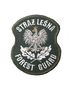 Naszywka Straż Leśna Forest Guard haftowana