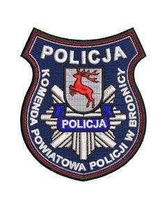 Naszywka Policja komenda główna policji Gorzów Wlkp Wydział Prewencji NPO1032 IND
