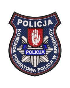 Naszywka policja Komenda Powiatowa Policji w Brodnicy NPO1033 IND