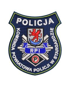 Naszywka policja komenda powiatowa policji w Brodnicy 2 NPO1034 IND