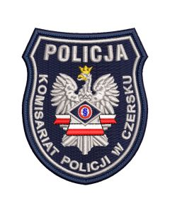 Naszywka policja Komenda Powiatowa Policji Wieluń NPO1036 IND