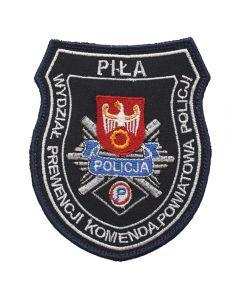 Naszywka policja KPP Piła Wydział Patrolowo interwencyjny NPO1038 IND