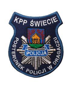 Naszywka policyjna Po Pierwsze Czlowiek NPO1024