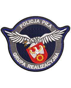 Naszywka policja Ogniwo Patrolowo Interwencyjne Tuchola NPO1045 IND