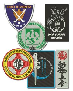 haft komputerowy naszywka dla szkół i klubów sportowych emblemat logo naszywki