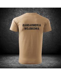 Koszulka piaskowa T-SHIRT STRAŻ GRANICZNA Polish Border Guard z haftem