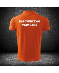 Chabrowa koszulka polo ratownictwo medyczne druk