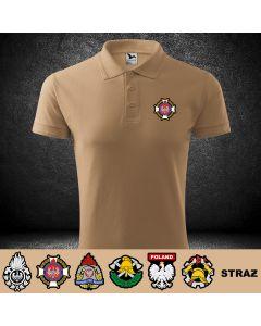 Drukowana koszulka piaskowa t-shirt RATOWNIK MEDYCZNY