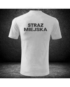 Biała strażacka koszulka t-shirt straż biały kolor straż OSP