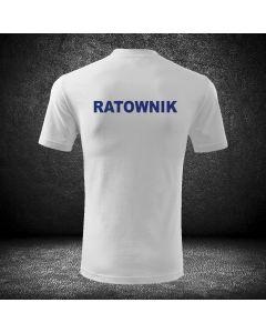 Biała koszulka t-shirt ratownictwo medyczne druk