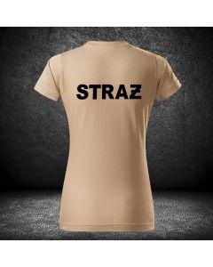 tshirt damski, koszulka osp dla kobiet, straż pożarna, t-shirt, kobieta, emblant