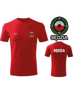 Haftowana koszulka polo PZSS   Polski Związek Strzelectwa Sportowego z napisem na plecach SĘDZIA i logo na piersi. Własne indywidualne napisy w opcji.