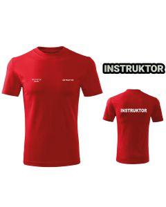 Czerwona drukowana Koszulka T-SHIRT INSTRUKTOR Polski Związek Strzelectwa Sportowego PZSS druk DTG
